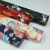 100% ٪ الحرير حفر برونزي الكارب النمط الياباني ساكورا فراشة نسيج ل diy سماط والملابس والحرف اللحف اليدوى
