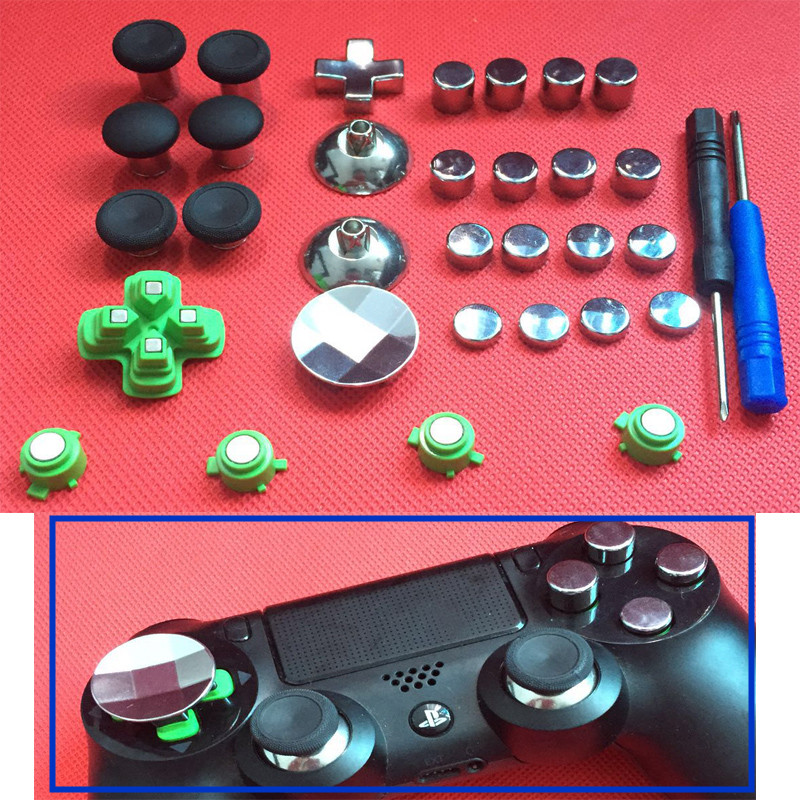 31pcs-enhanced-swap-metal-magnetic-thumbstick-joystick-thumb-stick-grip-d-pad-abxy-button-for-sony-ps4-font-b-playstation-b-font-4-controller