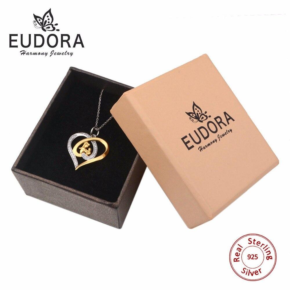 Eudora Echte 925 Sterling Silber Mutter Schmuck Kristall Herz - Modeschmuck - Foto 6