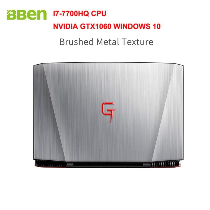 BBEN G16 15.6 Windows 10 Intel I7-7700HQ CPU NVIDIA GTX1060 GDDR5 6GRam 16G DDR4 RJ45 HDMI Wifi BT4.0 Backlit keyboard Laptop hq hdmi v1 4 1 5m hqss5563 1 5
