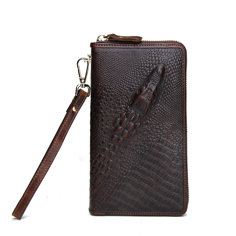 New Arrival Genuine Leather Wallets Famous Brand Cow Leather Clutch Bags Real Leather Wallet Credit Card Holder Men Purse Bolsa 2016 famous brand new men business brown black clutch wallets bags male real leather high capacity long wallet purses handy bags