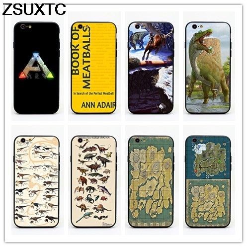 GAME ARK Survival Evolved tpu+pc phone case for iphone 5 5s se 6 6s 6p 7 7p 8 8p X