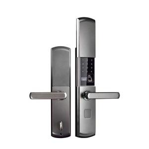 Image 1 - Cerradura electrónica inteligente para puerta, cerradura grande para puerta de seguridad interior, Control remoto mediante aplicación móvil, contraseña, huella digital, llave de emergencia