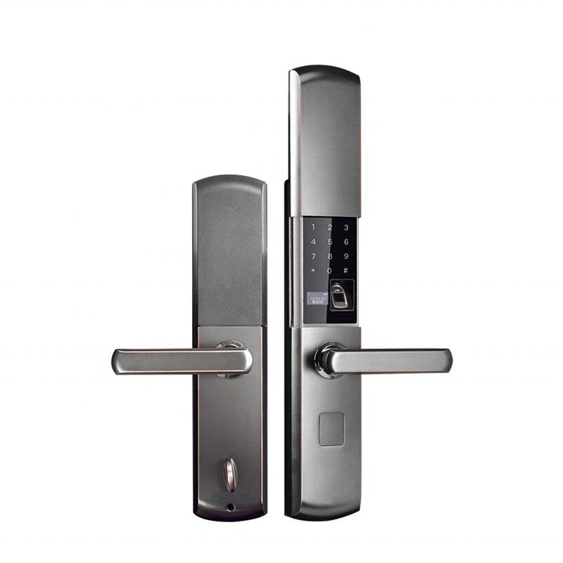 Smart Home électronique serrure de porte grande sécurité intérieure serrure de porte télécommande par APP Mobile mot de passe empreinte digitale clé de secours