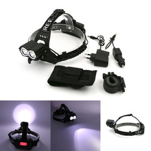 Super Bright 4 Modes 2 In 1 Bicycle Headlamp Rechargeable Headlight Head Lamp For Biking With Clip Battery Bag,Use 18650