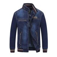 Spring Autumn Cowboy Fashion Baseball Jacket Men Denim Jacket Casual Jeans Bomber Jacket American OUTWEAR Coat Male Clothes