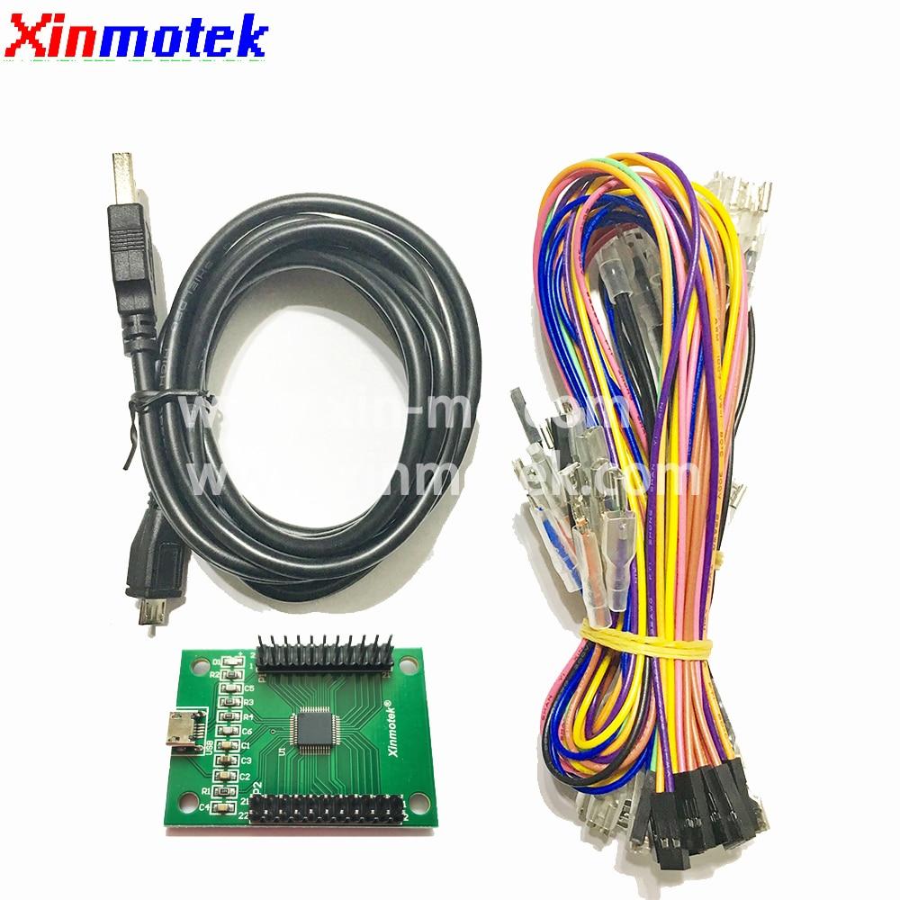Xinmotek XM-10 DIY 2 Players USB To Jamma Arcade Controller / Support PS3 PC Raspberry Pi /Arcade Joystick Machine Accessories(China)