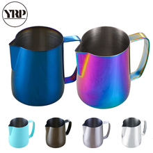 YRP 350/600ML Stainless Steel Milk Frothing Jug Pitcher Pull Flower Espresso Coffee Mug Barista Latte Art Cream Cup Kitchen Tool