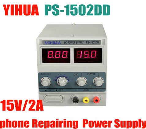 YIHUA 1502DD Adjustable Variable Output DC Power Supply LED Display Phone Repair Power Test Regulated Power Supply 15V 2A yihua 1501a 15v 1a adjustable dc power supply mobile phone repair power test regulated power supply
