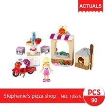 bela 10535 90Pcs Friends series Stephanie's pizza shop  Building Blocks   Bricks Toys For Children  Gift