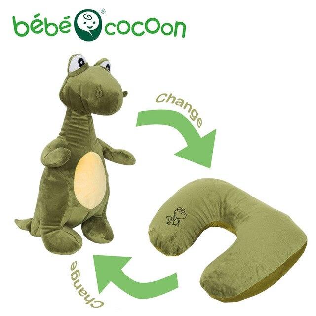 Bebecocoon Dinosaur/Airplane/Dog Plush Ushaped Neck Pillow Convertible Animal Stuffed Plush Toy Multifunctional Travel Cushion