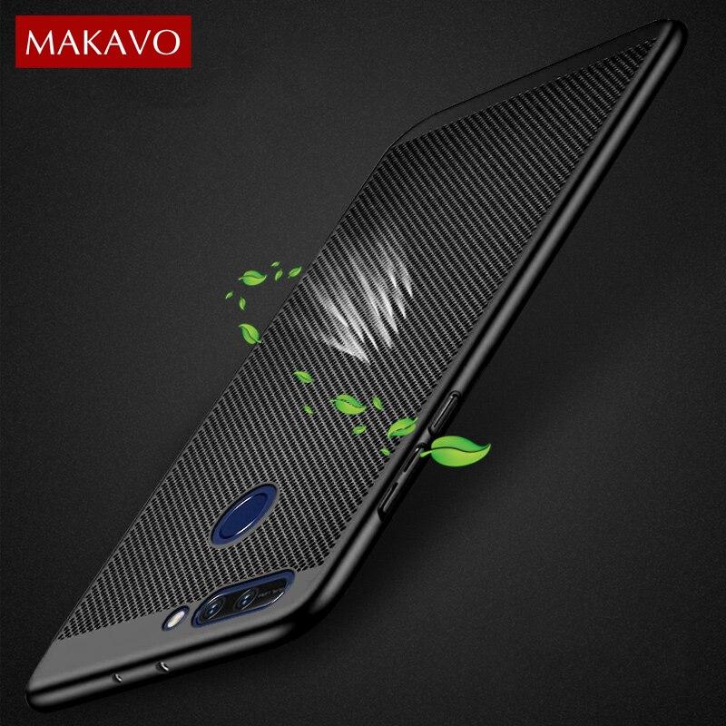 MAKAVO pour Huawei Honor 8 Pro coque 360 Protection complète mince mat dur couverture arrière pour Huawei Honor8 Pro coques de téléphone