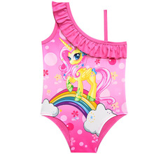 2019 Unicorn Girls Swimsuit One Piece Children's Swimwear 2019 Swiming Suit Girl Swimwear Beachwear Bathing Suit G48-CZ905