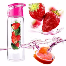 800ML Fashion Flesh Fruit infuser infusing Water Bottle Sports Fitness Health Lemon Juice Make Bottle Cycling Camping Cup