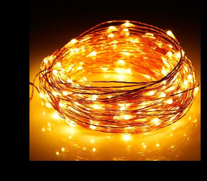 Multicolour 100leds LED String Light 3AA battrey Decoration Light for Christmas Party Wedding battery string New Halloween 2016