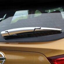 цена на Trim Molding Accessories 3pcs ABS Chrome for Nissan Qashqai J11 2014-2017 Car Styling Rear Window Wiper Arm Blade Cover Sticker