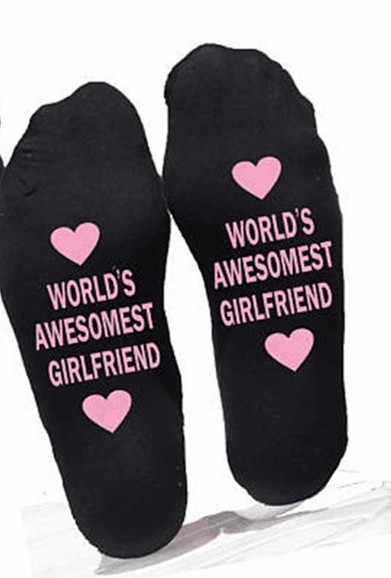Подарок на день рождения для бойфренда, хлопковые носки, подарок маленькой любви, подарок подруге на годовщину, подарок на день Святого Валентина