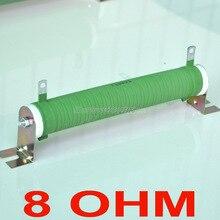8 Ом 100 Вт неиндуктивный проволочный керамическим покрытием трубы резистора, аудио усилитель эквивалент нагрузки, 100 Вт