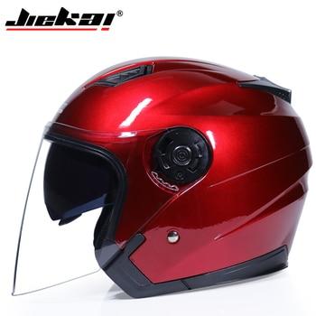 JIEKAI Motorcycle Helmets Electric Bicycle Helmet Open Face Dual Lens Visors Men Women Summer Scooter Motorbike Moto Bike Helmet 10
