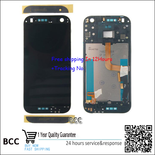 Original New LCD Display and Touch Screen Digitizer with frame For HTC ONE M8 mini one mini 2  Test ok+Free Tracking No. test ok for htc one max lcd display touch screen digitizer panel with frame assembly free shipping track code
