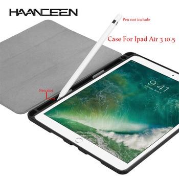 غطاء لجهاز iPad Air 3 10.5 2019/Pro 10.5 غطاء لنوم الاستيقاظ الذكي لجهاز iPad Pro 10. 5 حامل قلم قلاب جلدي كابا Fundas