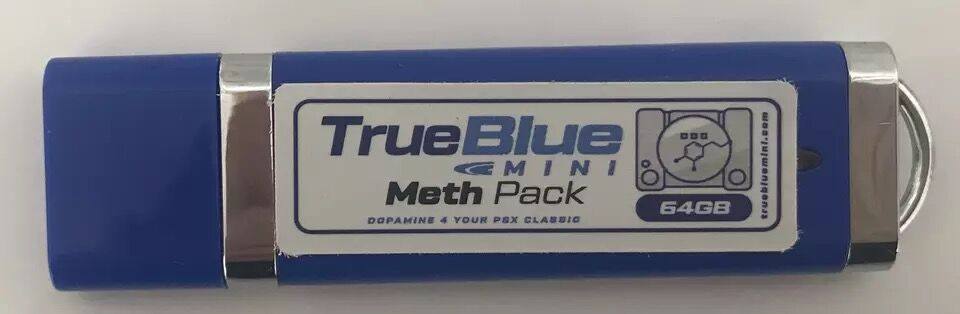 For PS1 game console true blue mini METH PACK 64GB includes 101 games