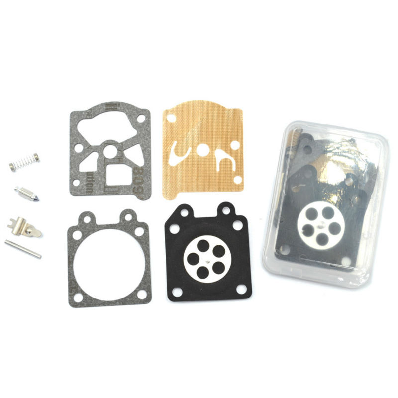 2SETS Chainsaw Carburetor Repair Kit Carbs Diaphragm for Partner 350 351 370 371 420 Walbro 33-29 Parts p351 ignition coil for partner 351 350 370 371 390 420 440 poulan stator chainsaw magneto ignitor