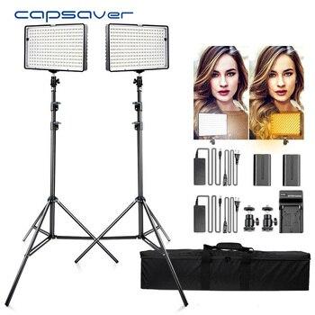 Spash wielofunkcyjny wodoodporny TL-240S 2 zestawy światło led do kamery oświetlenie fotograficzne 5600K CRI93 240 diody led panel ledowy światła dla wideo Studio strzelać