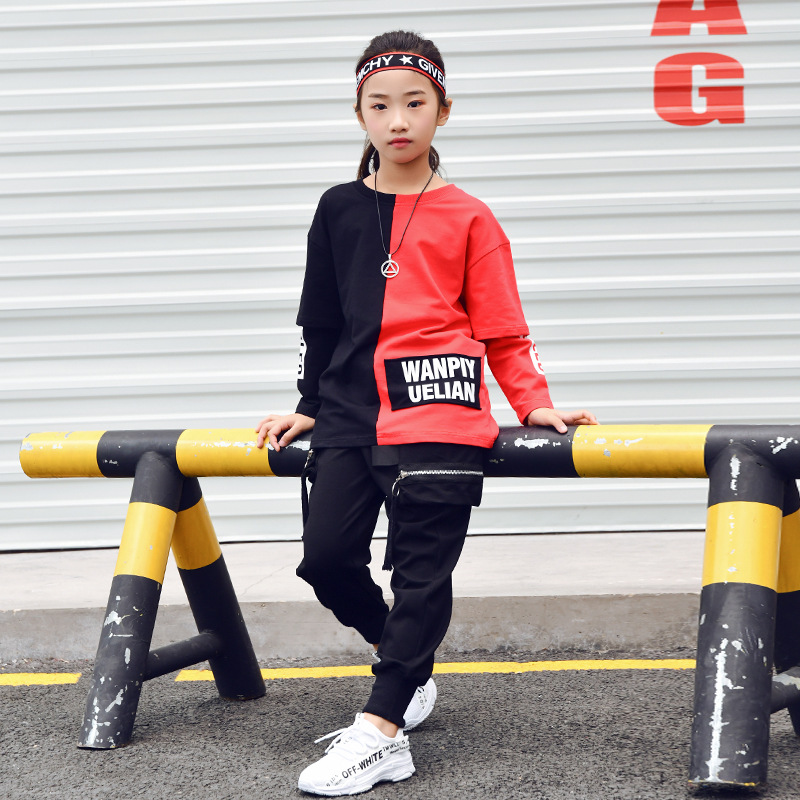 Image 3 - Children Ballroom Dance Clothes for Girls Boys Performance Show Short T Shirt Jogger Pants Jazz Kid Hip Hop Dancing Costume-in Ballroom from Novelty & Special Use