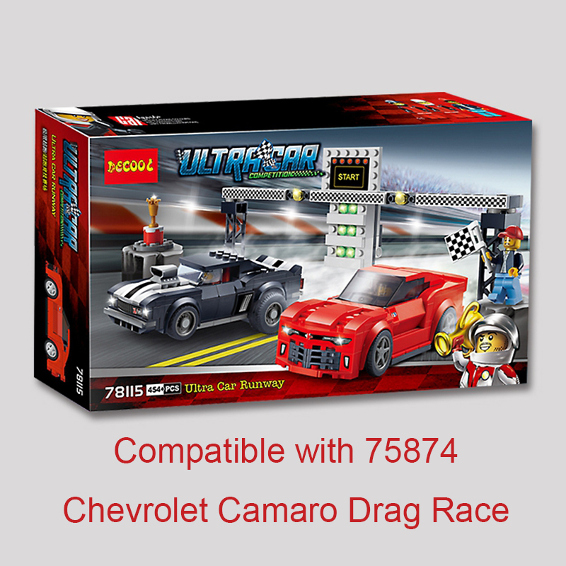 Super Racers Series Speed Champions Ultra Car Runway Chevrolet Camaro Drag Race Set 75874 Building Block Toys For Children Lepin breakfast for champions