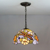 12 Inch Dragonfly Tiffany pendant light Stained Glass Lamp for Bedroom E27 110 240V
