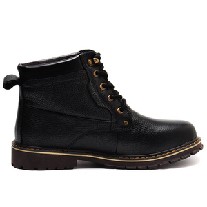 Image 5 - REETENE New Fashion Genuine Leather Men Ankle Boots Warm Winter Snow Warm Mens Boot Lace Up Plush Men Shoes Plus Size 39 50