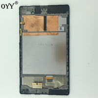 LCD Screen Display Touch Screen Panel Digitizer Assembly + Frame Parts For ASUS Google Nexus 7 2nd ME572 ME572C ME572CL|screen panel|touch screen|lcd screen panel -