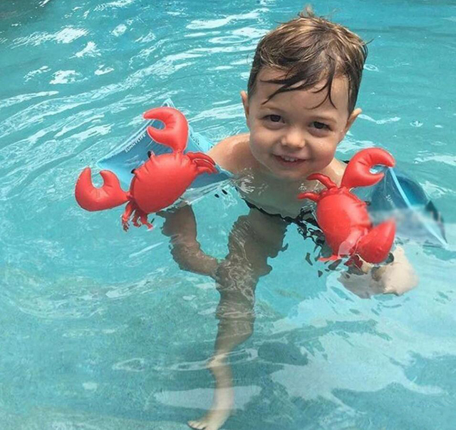New children's crabs arm swimming floating ring flamingo arm ring swimming swimming auxiliary products children inflatable toys