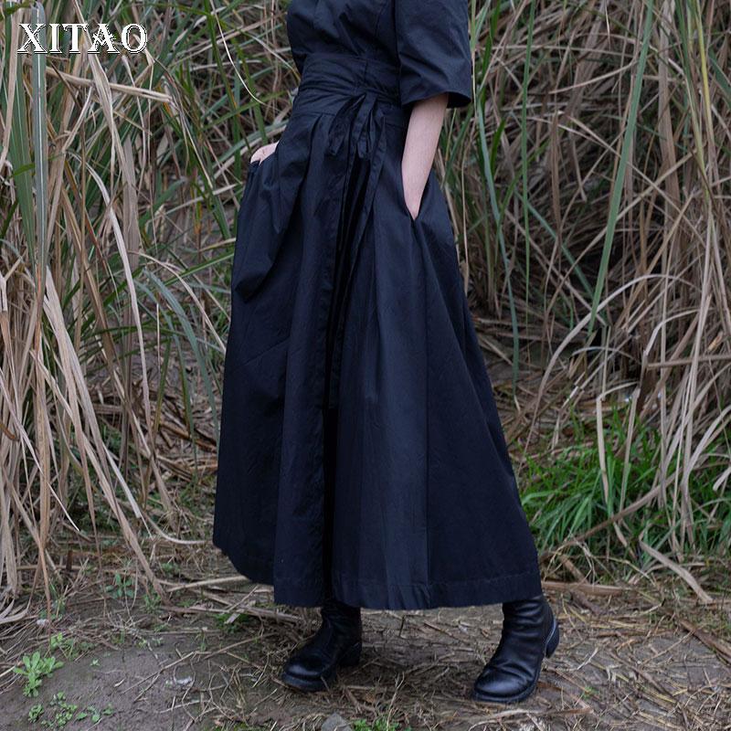 642e6219c3 Color Mujer De 2019 Wbb2554 Nueva Casual Corea Longitud Vestido Del Verano  Mujeres Sólido Moda Primavera Falda Black Tobillo xitao PTqvntxT