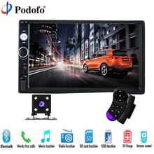 Podofo 2 Din Car Audio 7″ HD Touch Screen BT Car autoradio MP5 Player Multimedia Radio Entertainment USB/TF FM Aux Input Camera