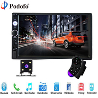 Podofo 2 Din Car Audio 7 HD Touch Screen BT Car Autoradio MP5 Player Multimedia Radio