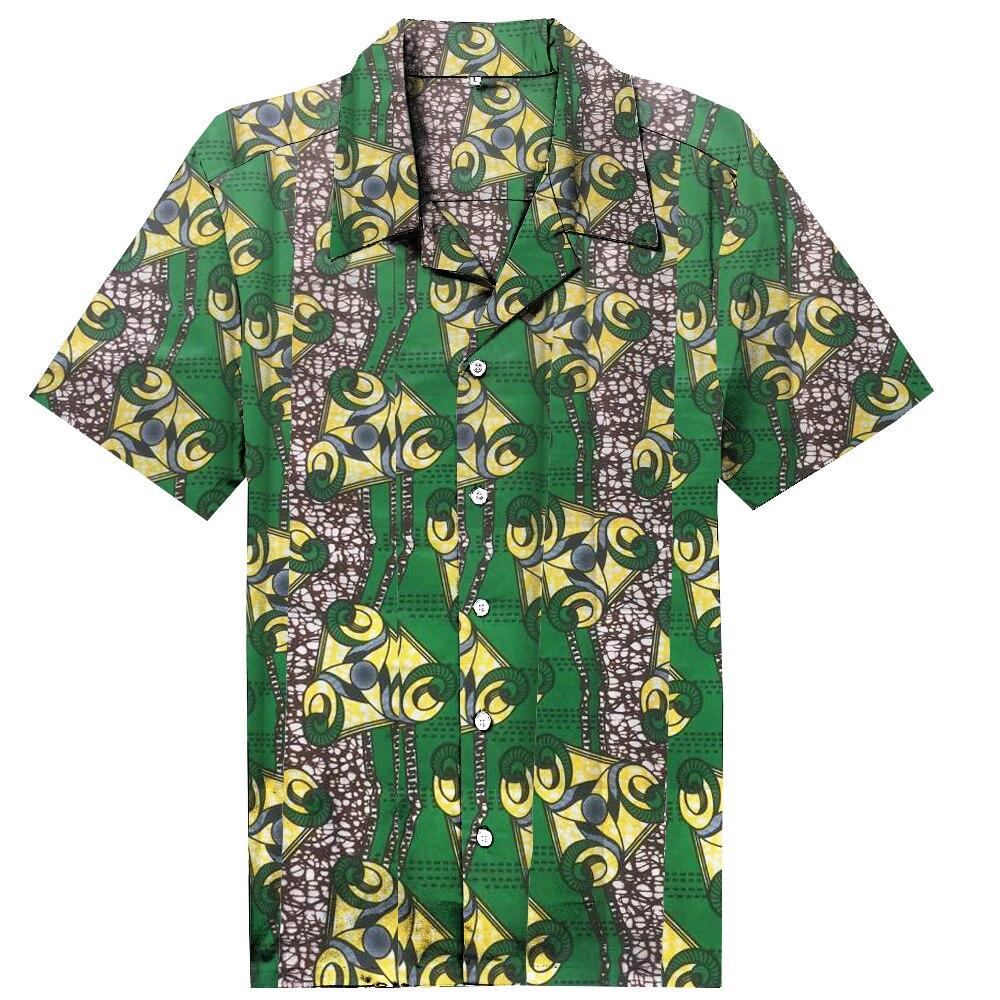 Новинка, Дашики, мужская одежда в африканском стиле, Модный цветочный принт, пляжные топы с короткими рукавами, мужская рубашка, дизайнерски