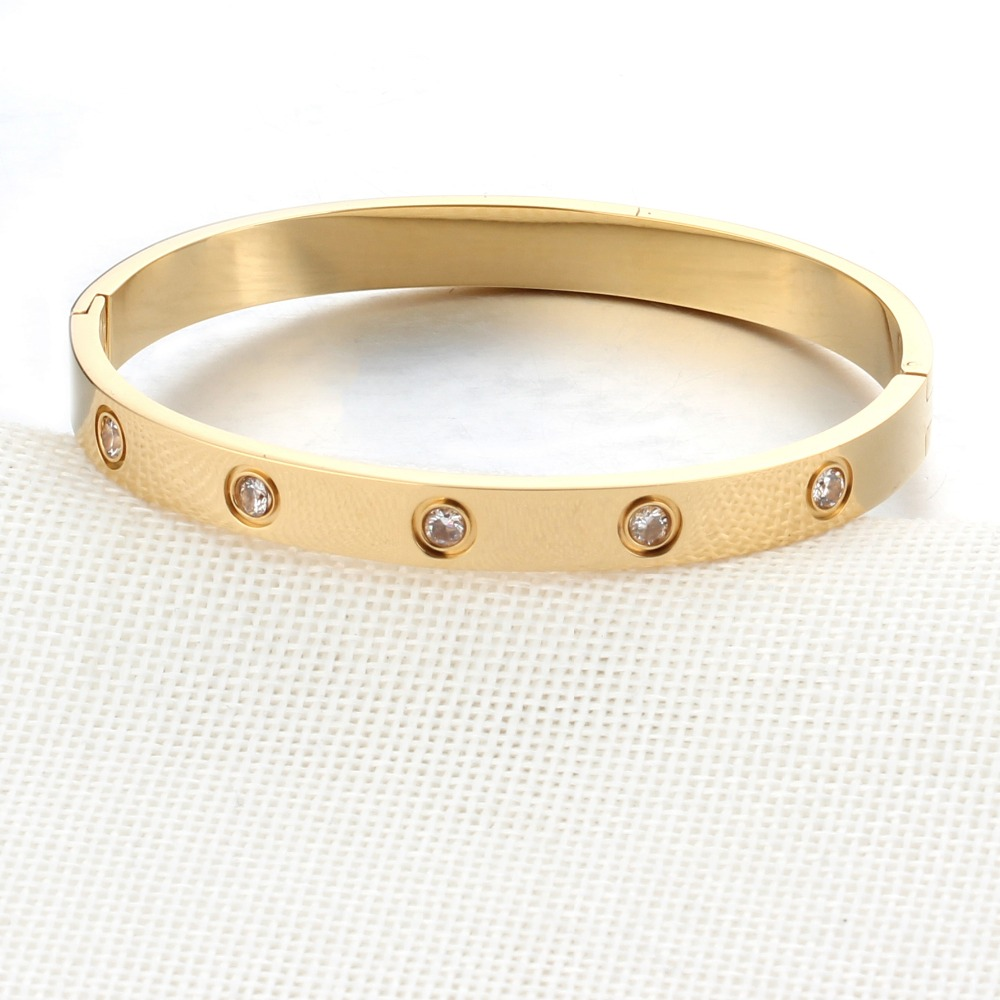 28a92cd0e34 Aliexpress.com : Buy Screw Love Bracelet Cuff Gold Bracelets & Bangles  Pulseras Mujer Stainless Steel Love Screw Bracelet For Women Jewelry from  Reliable ...