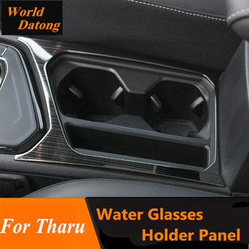 Couvercle intérieur de décoration d'acier inoxydable de panneau de support de lunettes de l'eau 1 pièces pour Volkswagen VW 2018 2019 accessoires de Tharu LHD