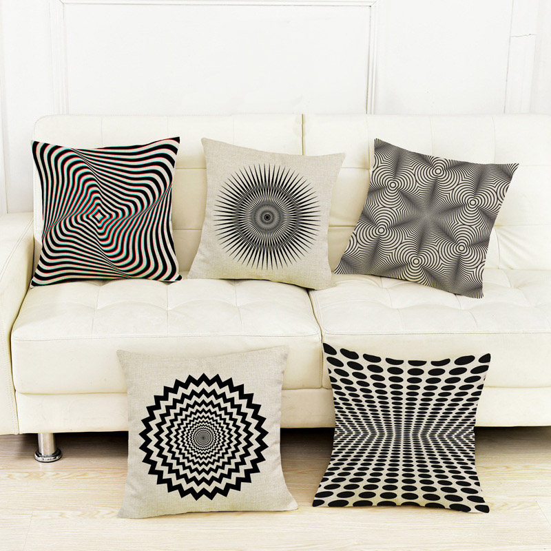 Geometrics Vision Paisley Waves Tides Europe Nordic Pillow