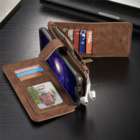 Genuine Leather 2 In 1 Phone Case For Samsung Galaxy S8 G9500 S8 Plus Luxury Magnetic