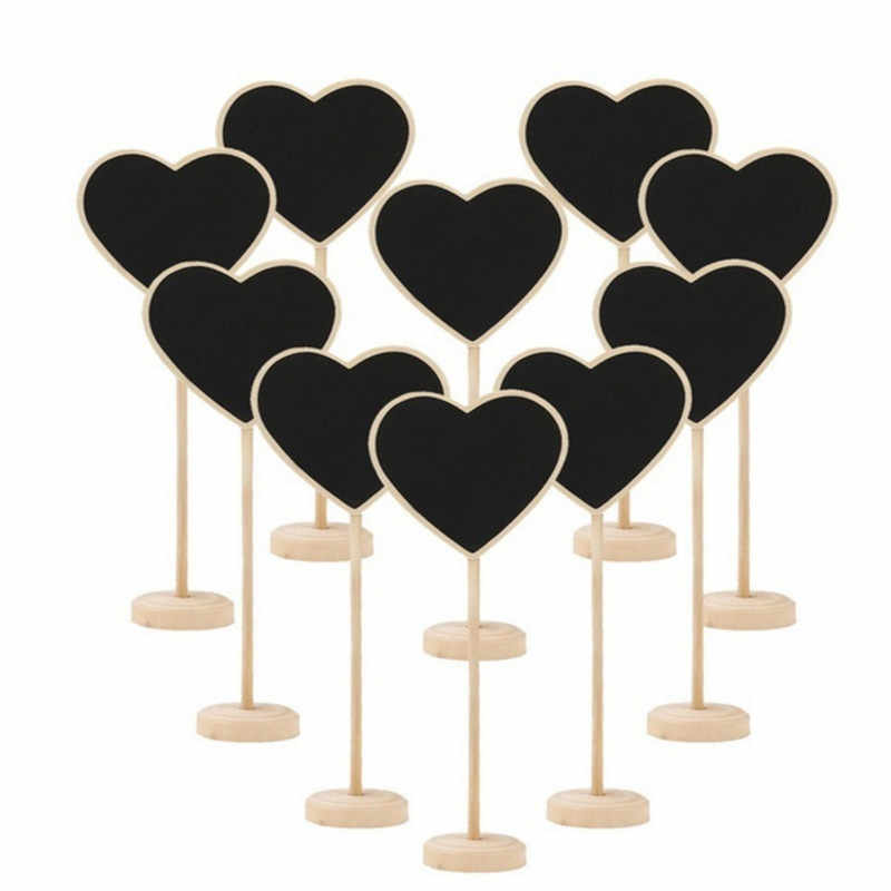 2019 Mini Wooden Chalk Blackboard Wedding Kitchen Restaurant Signs Chalkboard Writing Notice Message Paint Board Wedding Decore