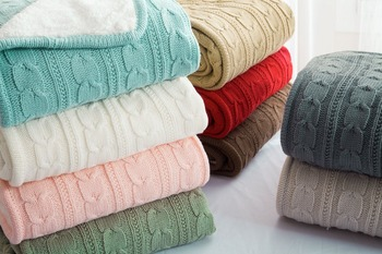 Wool Knitted Winter Throw Blanket Bedroom Blankets Departments Living Room Outdoor Rooms