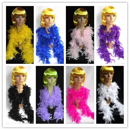 200pcs/lot EMS Free Shipping Cheap Wholesale 180cm 40g Wedding Carnival  Christmas Halloween Party Supplies Turkey Feather Boas-in Scarves from  Women's