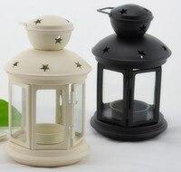 031705 lámpara de Huracán de cristal de hierro forjado artículos de equipamiento del hogar decoración de velas de aromaterapia vela titular