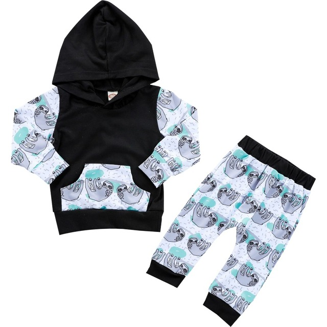 9536a4a45fc9 Flora Pig Kids Baby Hooded Clothes Set Autumn Baby Boy Girl Long ...
