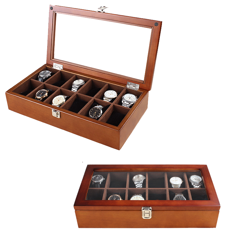 2019 New 12 Grids Wooden Watch Boxes for Hours Sheath for Hours Box for hours Watch 61 hours