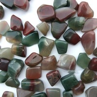 1/4 lbTumbled Púrpura verde Ágata Cornalina Piedras de China-Pulido de Piedras Preciosas Naturales Suministros para Wicca, Reiki, y Energía Cr