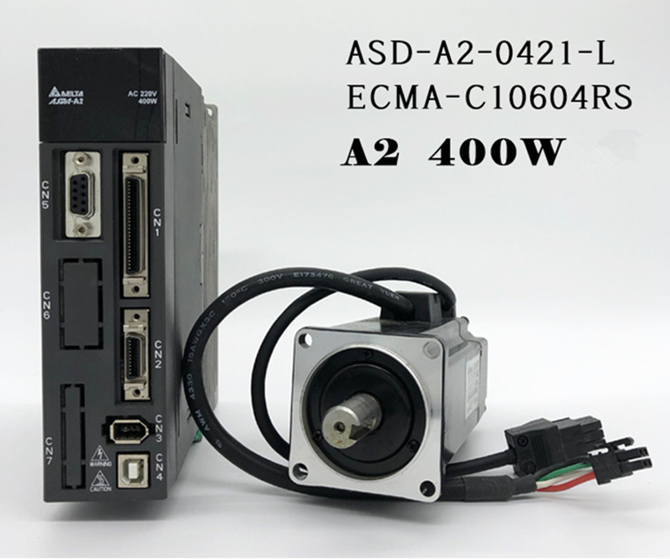 ECMA C10604RS + ASD A2 0421 L ASDA A2 AC servo controlador de motor kits de 0.4kw 400 W 3000 rpm 1.27Nm 60mm marco-in Conductor de motor from Mejoras para el hogar on AliExpress - 11.11_Double 11_Singles' Day 1